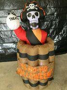 Gemmy Prototype Halloween Inflatable Pirate In Barrel 1