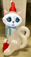 4ft Gemmy Airblown Inflatable Christmas Cat Prototype