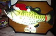 Big mouth billy bass christmas wall mount 2