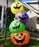 Gemmy inflatable multicolor jack o lantern tower