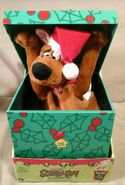 Gemmy Pop-Up Scooby-Doo Animated CHRISTMAS Pop-Up Gift BOX Motion TALKS! NEW 4