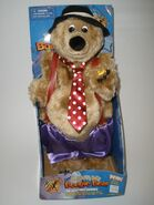 RARE Gemmy BOOGIE BEAR BIG BAND BIG BELLY Singing Animated Plush Stuffed Toy