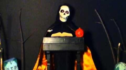 Animated Organ Playing Reaper (Gemmy 1995)-0