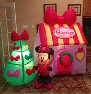 Gemmy Prototype Minnie Mouse Christmas Bow-tique Inflatable Airblown