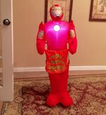 Gemmy Prototype Halloween Iron Man Trick or Treat Inflatable Airblown