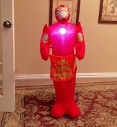 Gemmy Prototype Halloween Iron Man Trick or Treat Inflatable Airblown