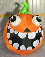 Gemmy Prototype Halloween Inflatable Whimsey Pumpkin
