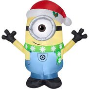 Gemmy 2016 inflatable-Carl Minion wearing scarf