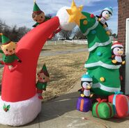 Gemmy Prototype Christmas Inflatable Archway