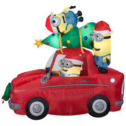 Gemmy 2016 inflatable-Minions Christmas Car scene