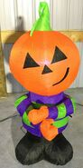 Gemmy Prototype Halloween Inflatable Attitude Pumpkin Man