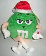 Green M&M Plush Musical Christmas Animated Shaker