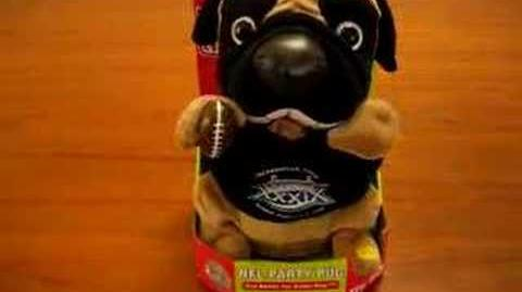 NFL Party Pug