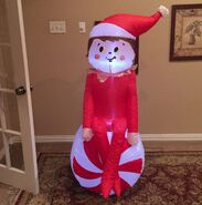 Gemmy Prototype Christmas Elf On Shelf Inflatable Airblown