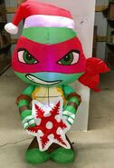 5ft Gemmy Airblown Inflatable Christmas TMNT Big Head Raphael Prototype