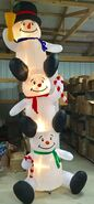 12ft Gemmy Airblown Inflatable Christmas Totem Snowman Prototype