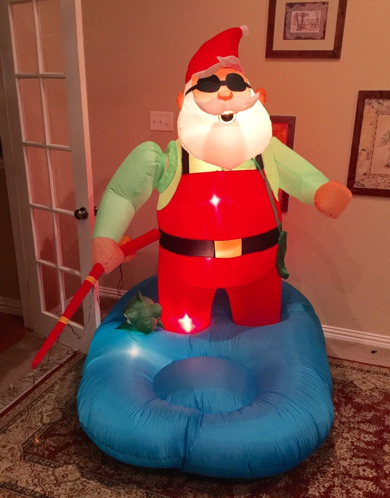 Image gemmy prototype christmas santa fishing inflatable