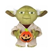 Halloween Greeter-Yoda w pumpkin