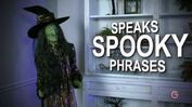 LIFE-SIZE ANIMATED Dazzled Witch with Broom