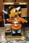 The university of Texas singing and dancing mascot in box 2001 6