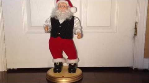 Gemmy swinging santa Canadian exclusive (Rare)-1