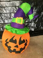 Gemmy Prototype Halloween Inflatable Pumpkin With Hat