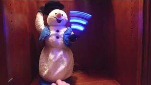 Traditional bluevest snowman demo
