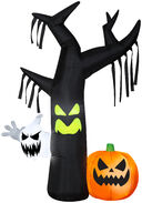 7 ft. Halloween Airblown Inflatable Ghostly Tree Scene