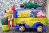 AIRBLOWN INFLATABLE 6' SCOOBY DOO CHRISTMAS MYSTERY MACHINE