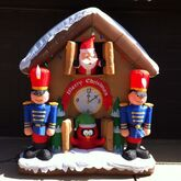 Gemmy Inflatable Sample Prototype Santa Clock Animated