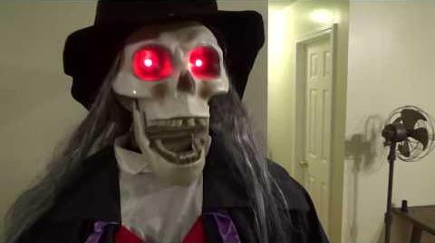"Gemmy Halloween Animated Life-Size 6ft ""Dead Head Skeleton Butler"""