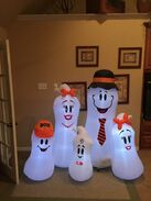 Gemmy inflatable ghost family