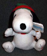 Snoopy plush doll Gemmy Christmas ANIMATED Musical sings theme peanuts 2010