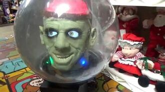 "Gemmy Halloween Animated"" Large ""Brain Monster"" Spirit Ball-0"