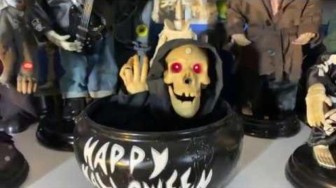 Gemmy Animated Beckoning Reaper Candy Bowl