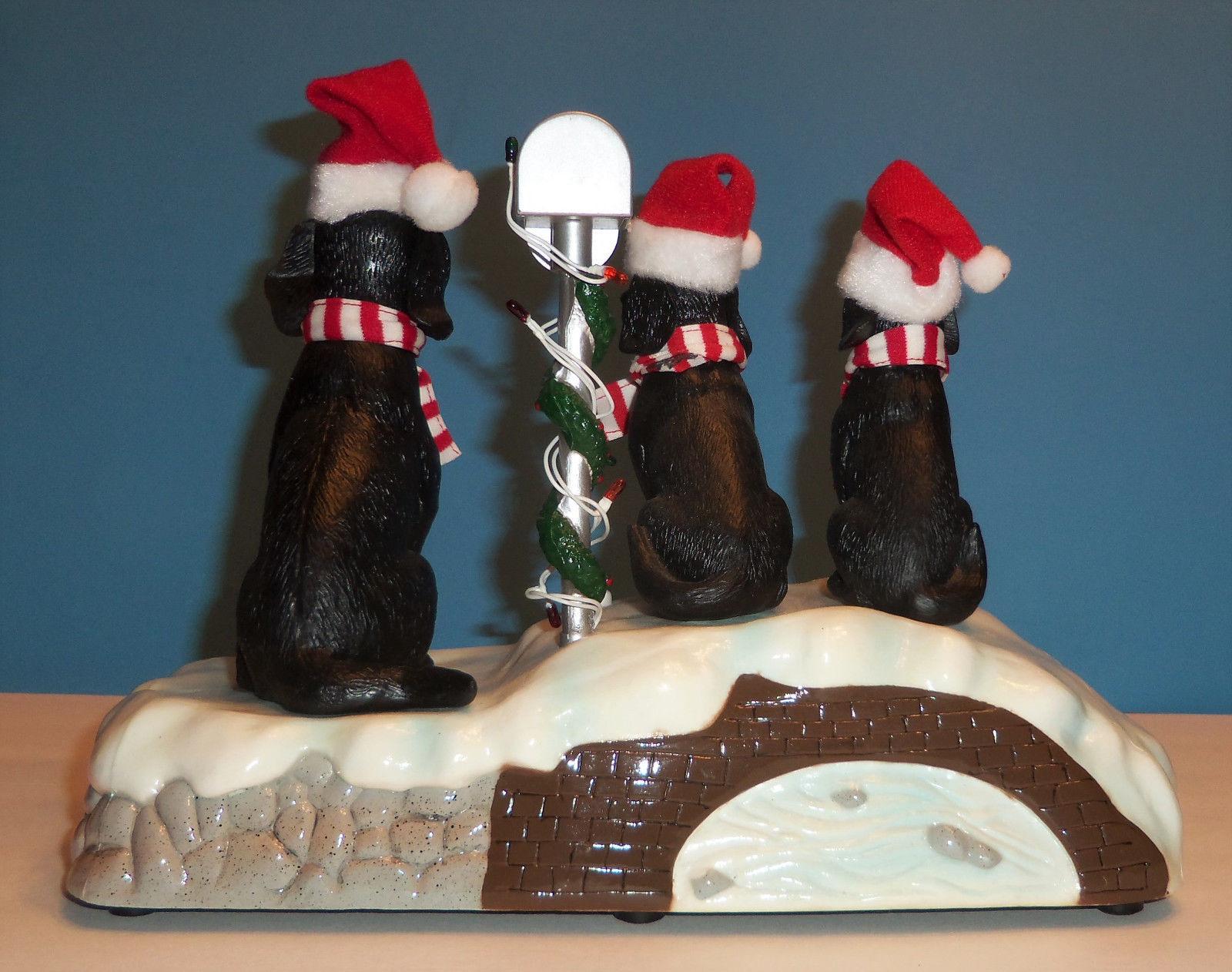 vintage gemmy singing caroling black lab dogs jingle bells christmas animated 4jpg