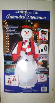 Gemmy 5' Life Size Animated Singing Dancing Christmas Snowman - Animated Karaoke 5