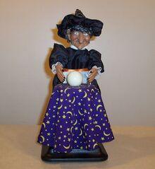 Gemmy Halloween fortune teller witch