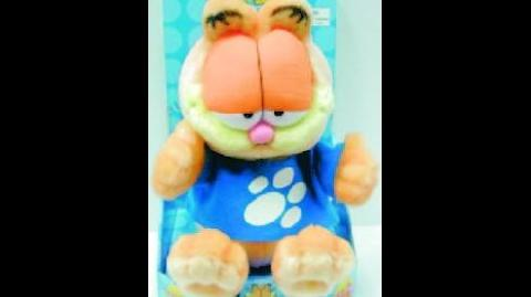 Gemmy animated Garfield plush-Fancy Dancin' Garfield (RARE)