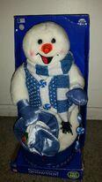 Christmas Spinning Peppermint snowman GEMMY