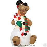AIRBLOWN INFLATABLE CHRISTMAS SCOOBY SNOWMAN