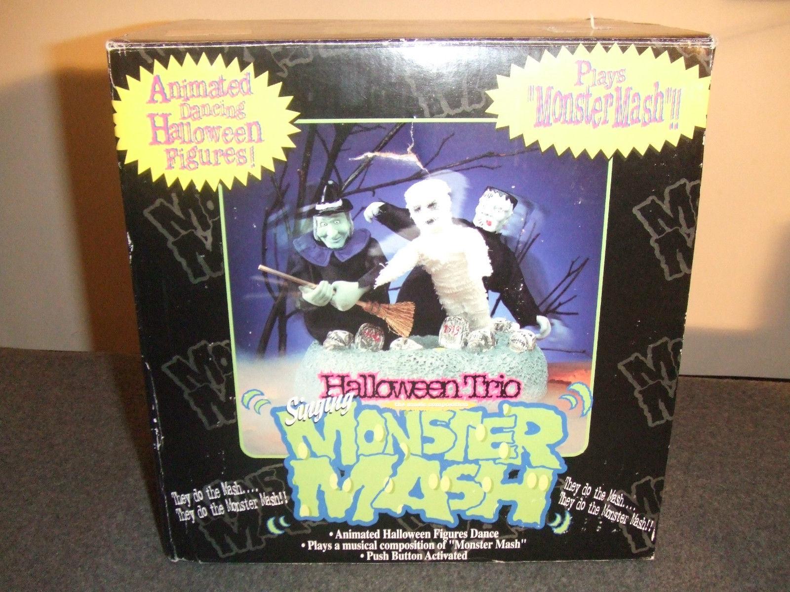 gemmy animated halloween trio singing monster mashfrankensteinwitch mummy 8jpg - Animated Halloween Figures