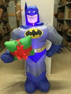 5ft Gemmy Airblown Inflatable Christmas Batman w Present Prototype