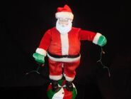 DANCING MUSICAL Animated GET DOWN Groovy SANTA CLAUSE Christmas Lights Gemmy