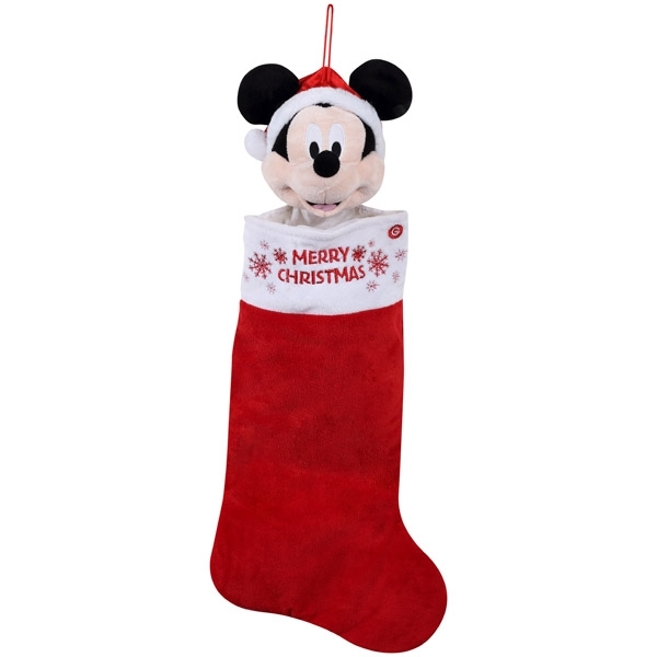 ear wiggling mickey mouse stocking - Mickey Mouse Christmas Stocking