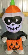 Gemmy Prototype Halloween Inflatable Skeleton