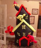 Gemmy Prototype Halloween Neon Haunted House Inflatable Airblown