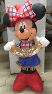4ft Gemmy Airblown Inflatable Thanksgiving Minnie Mouse Prototype