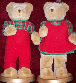 Set of 2 18 Inch Tall Holiday Bears