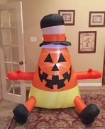 Gemmy Prototype Halloween Candy Corn Inflatable Airblown